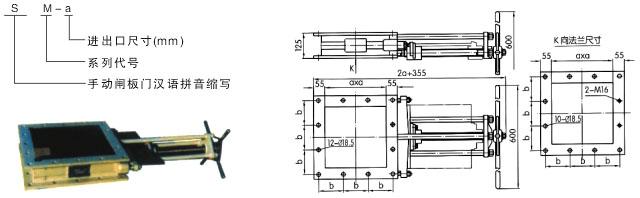 sm/dm-a系列手动/电动闸板门